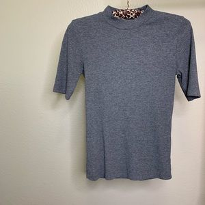 F21 Gray Mock Neck T shirt (96)